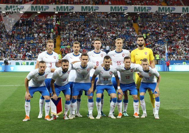 Čeští hráči před přátelským zápasem proti Rusku v Rostově na Donu