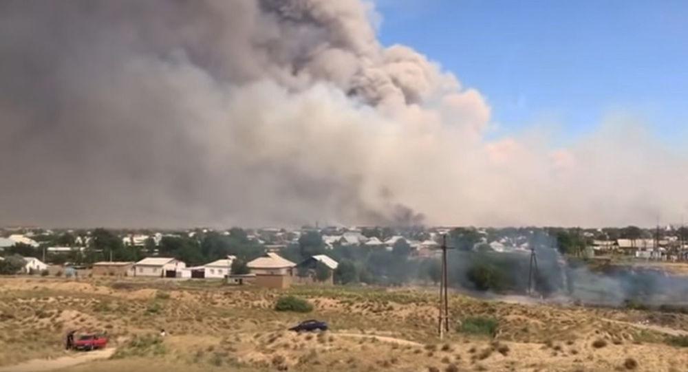 V Kazachstánu došlo k silnému výbuchu muničních skladů