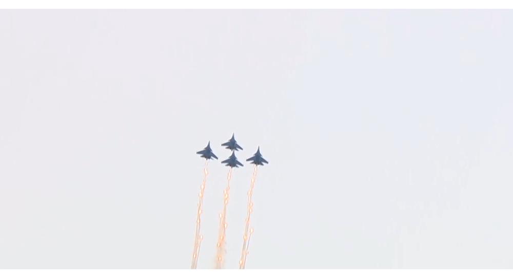Vzdušně-kosmické síly Ruska na fóru Army 2019 předvedly leteckou akrobacii
