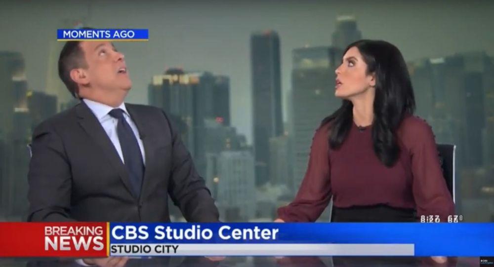 Zábavné video: Moderátoři zažili zemětřesení a vlezli pod stůl v přímém přenosu