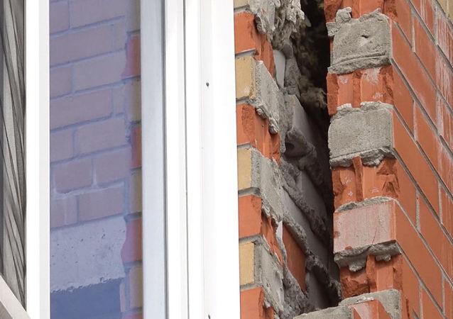 Před očima místních obyvatel se zhroutí nová výšková budova poblíž Kaliningradu