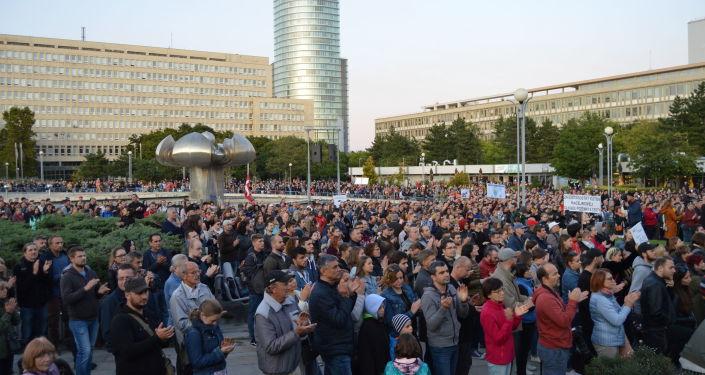 Mítink hnutí Za slušné Slovensko dne 20. září v Bratislavě