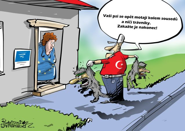 Karikatura Turecko vrátí teroristy IS do EU?