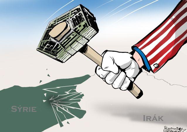 Karikatura Chcete zničit zemi? Vybudujte si americkou základnu!