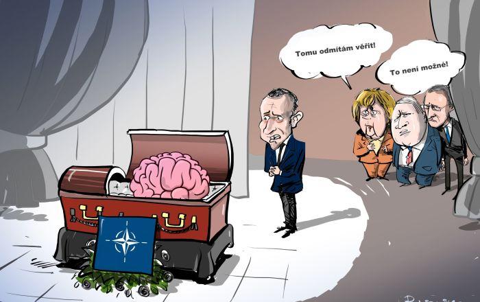 Karikatira Pohřeb NATO