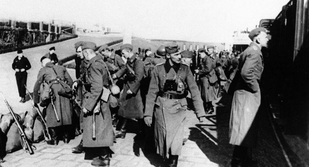 Nacistické jednotky v Dánsku. Ilustrační foto