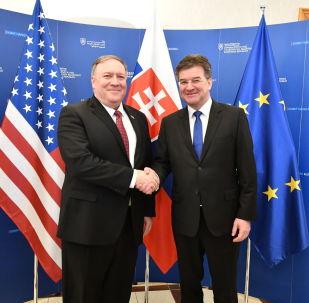 Šéf americké diplomacie Mike Pompeo a ministr zahraničních věcí SR Miroslav Lajčák