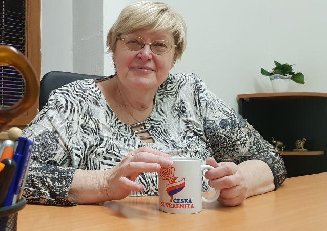 Jana Volfová, předsedkyně Suverenity