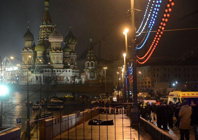 Místo vraždy Borise Němcova
