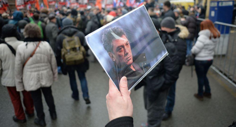 Smuteční pochod za zavražděného Němcova