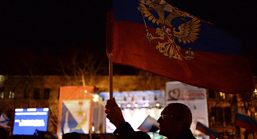 V Sevastopolu po hlasování během Krymského referenda. Archivní foto