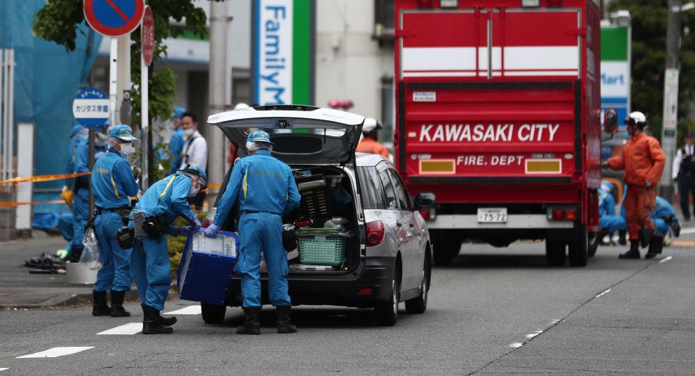 Místo útoku na obyvatele v Kawasaki, Japonsko