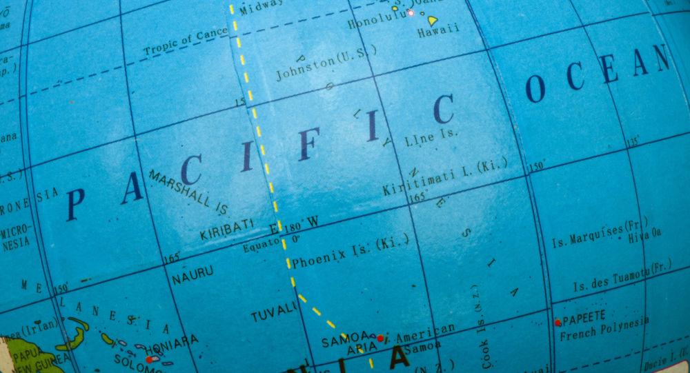 Globus. Tichý oceán. Ilustrační foto