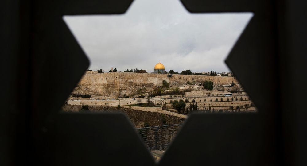 Výhled na chrámovou horu v Jeruzalémě