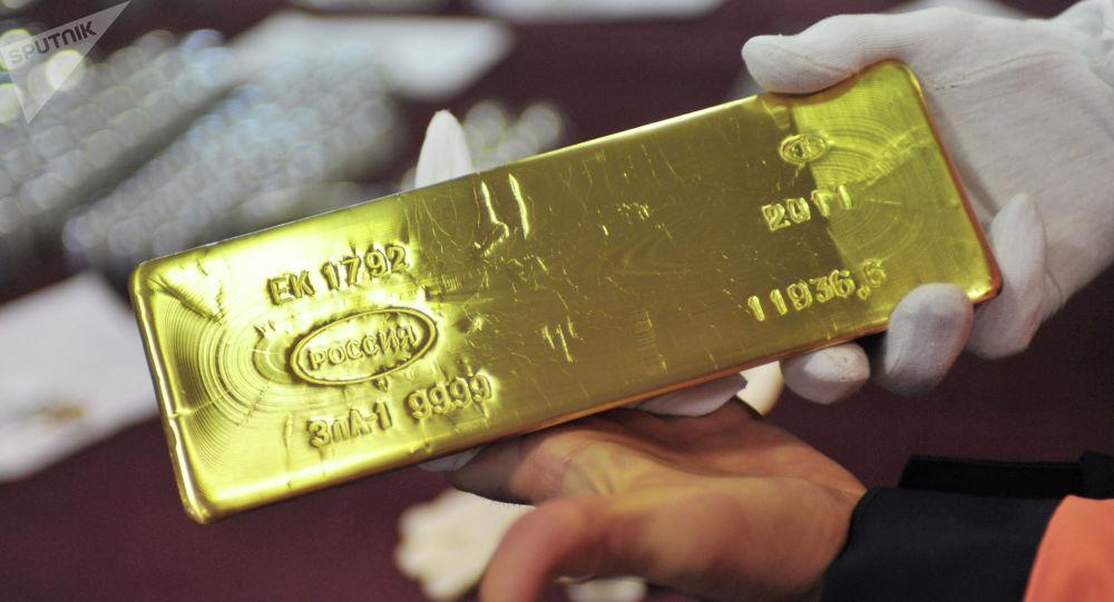 Zlatá cíhla na závodě v Jekatěrinburgu