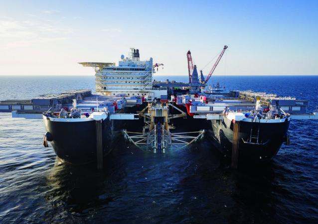 Stavění Nord Stream 2 ve Švédsku