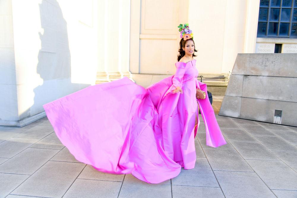 Modelka Veronica Webb na slavnostním udělování módních cen CFDA Fashion Awards.