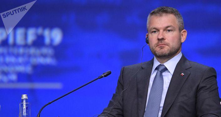 Slovenský premiér Petr Pellegrini (Mezinárodní ekonomické fórum v Petrohradu)