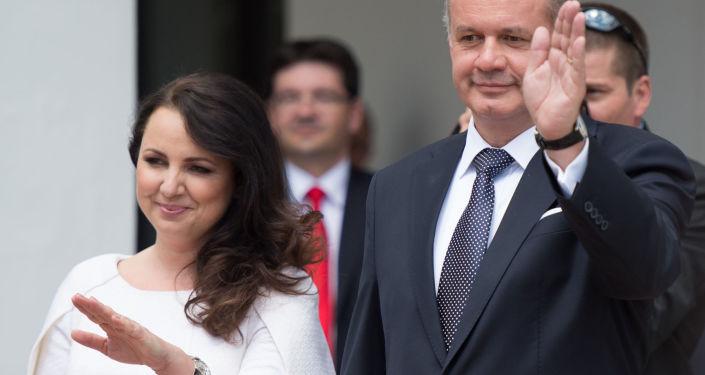 Andrej Kiska a Martina Kisková