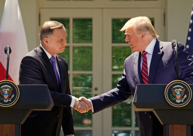 Prezident Polska Andrzej Duda a prezident Spojených států Donald Trump na setkání v Bílém domě