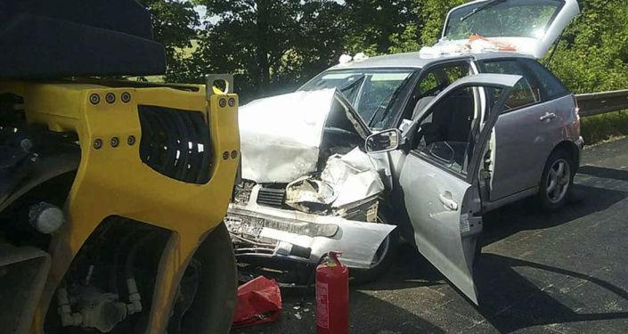 Dopravní nehoda, dálnice D1, Slovensko