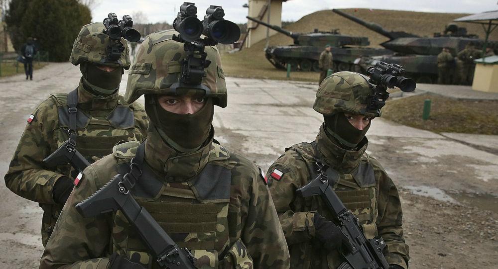 Polští vojáci během cvičení NATO