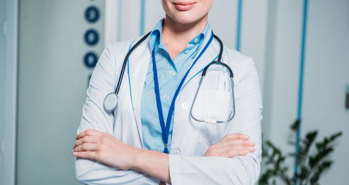 Lékařka se stetoskopem