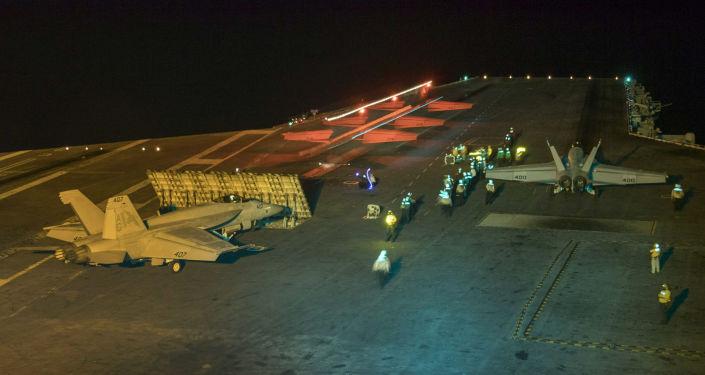 Americká letadlová loď USS Abraham Lincoln v Perském zálivu (10. května 2019)