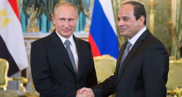 Vladimir Putin a Abd al-Fattáh as-Sísí