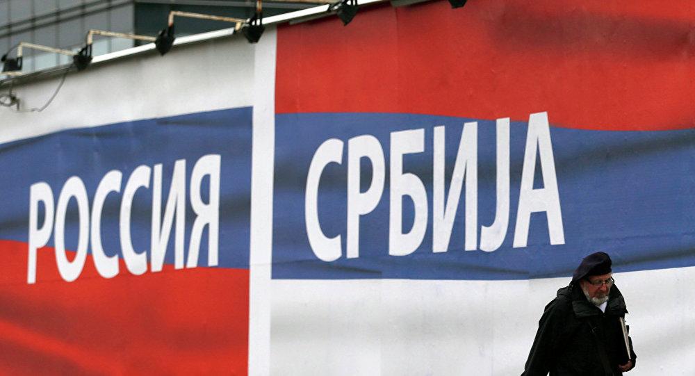 Vlajky Ruska a Srbska