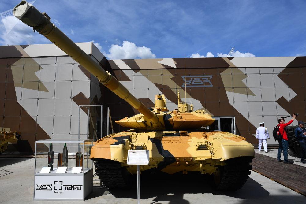 Tank T-90MS na Mezinárodním vojensko-technickém fóru Army 2019.