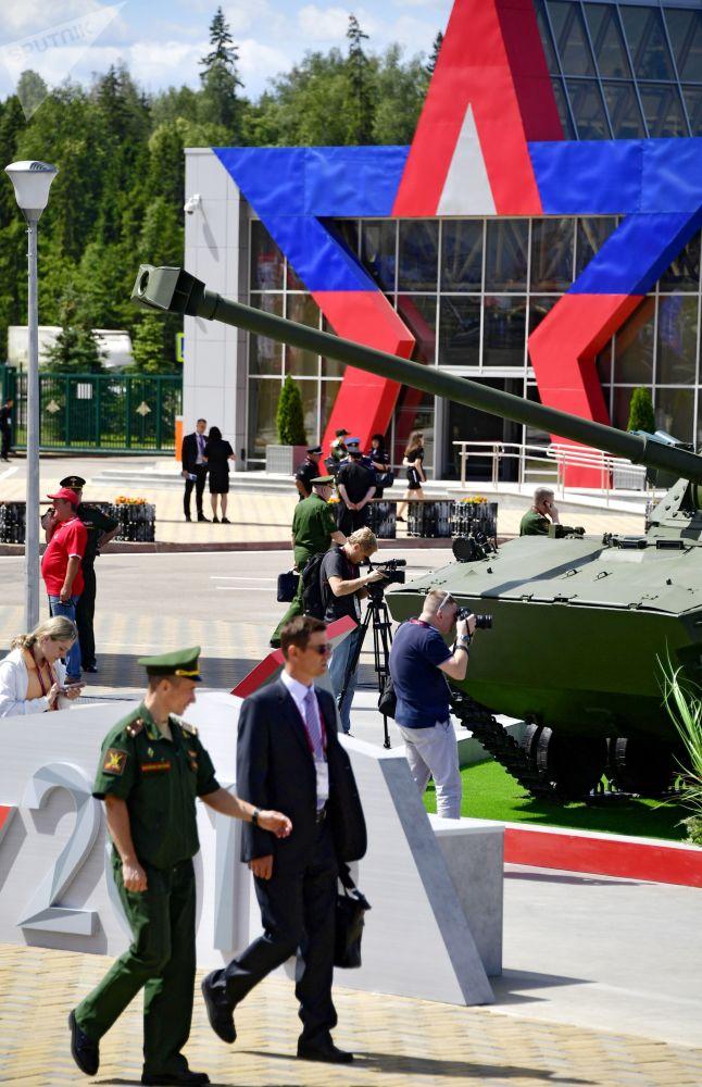 Návštěvníci Mezinárodního vojensko-technického fóra Army 2019.
