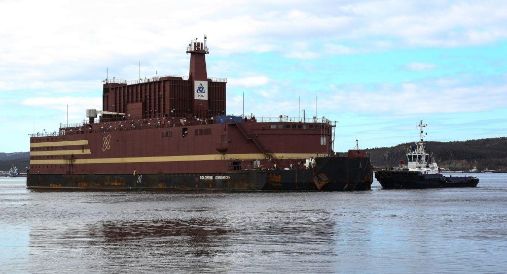 Plovoucí jaderná elektrárna Akademik Lomonosov v Murmansku