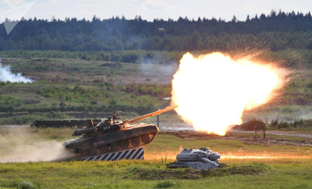 Tank T-90A na mezinárodním vojensko-technickém fóru Army-2019.