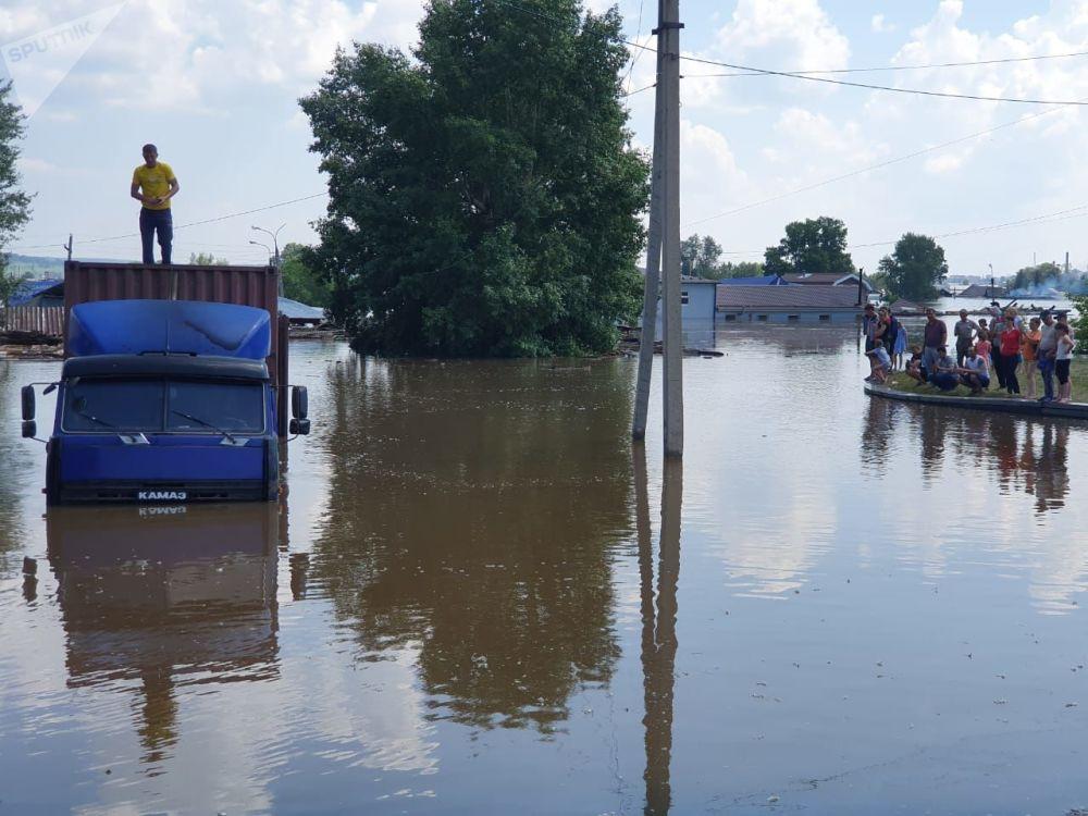 Povodeň v Irkutské oblasti.