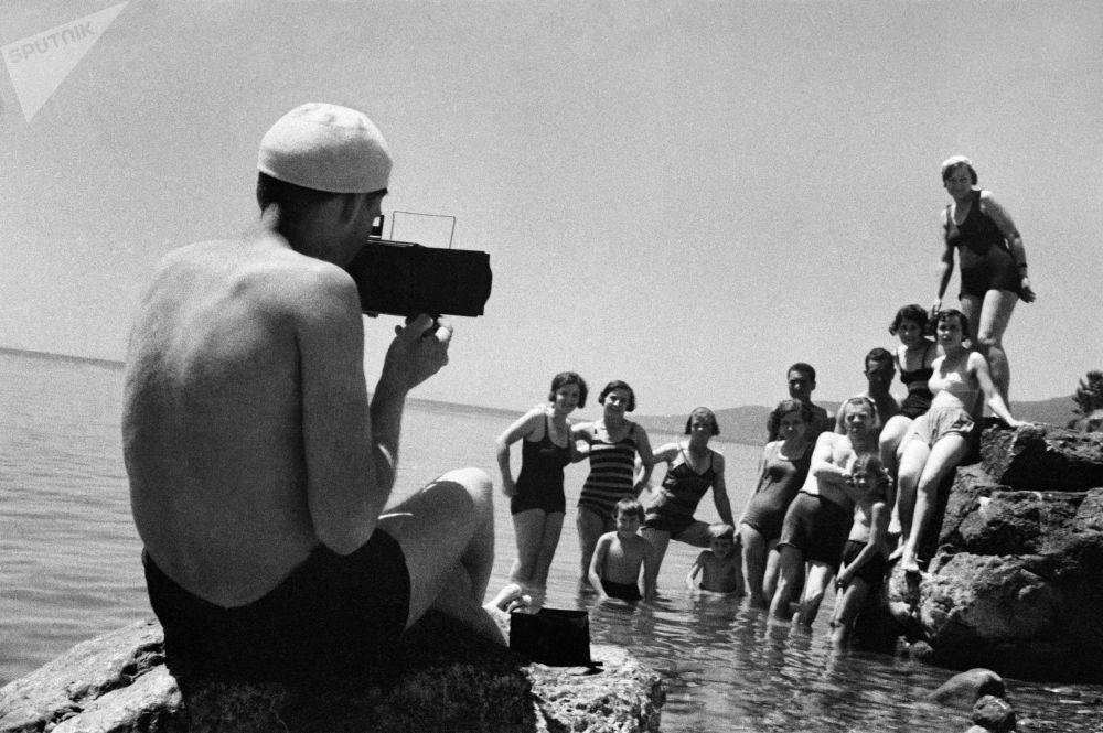 Foto na památku. Jalta, Krym. 1950.