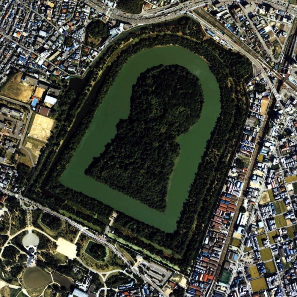 Mohyla císaře Nintoku v Osace, Japonsko