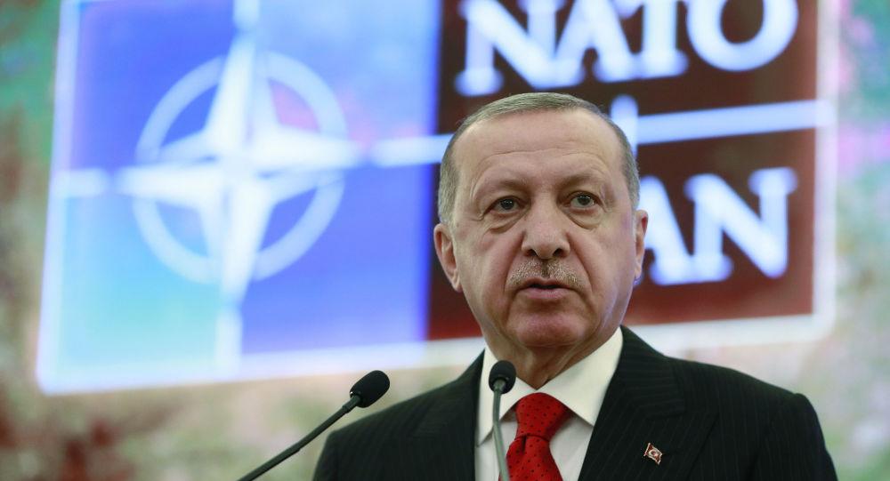 Turecký prezident Recep Tayyip Erdogan v Ankaře