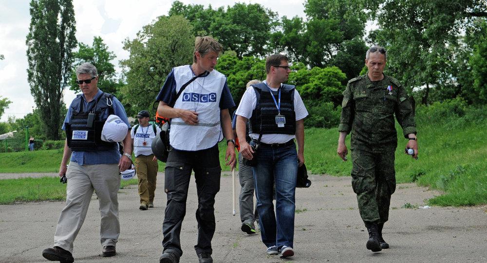 Představitelé OBSE v Doněcku