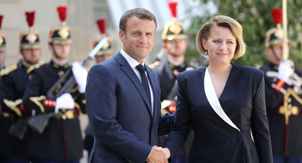 Zuzana Caputová a Emanuel Macron