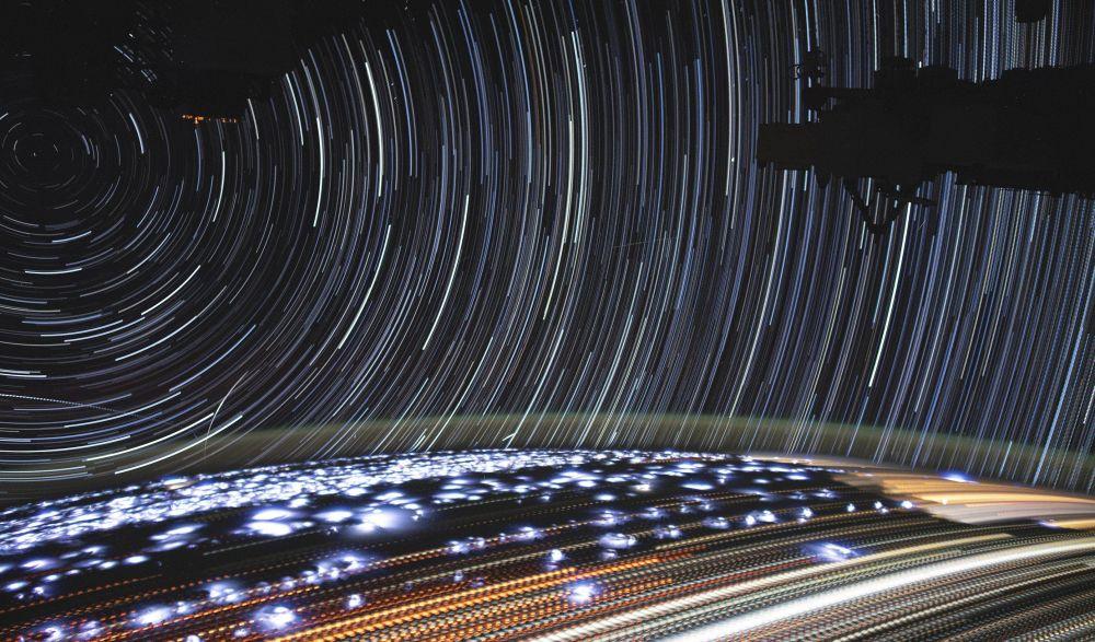 Snímek Země z Mezinárodní vesmírné stanice