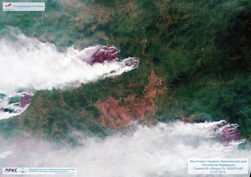 Požár z pohledu ruské družice