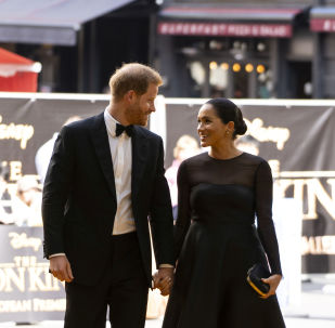 Britain's Meghan, Duchess of Sussex, and Prince Harry, Duke of Sussex, arrive for the European premiere of the film The Lion King in London, Britain July 14, 2019