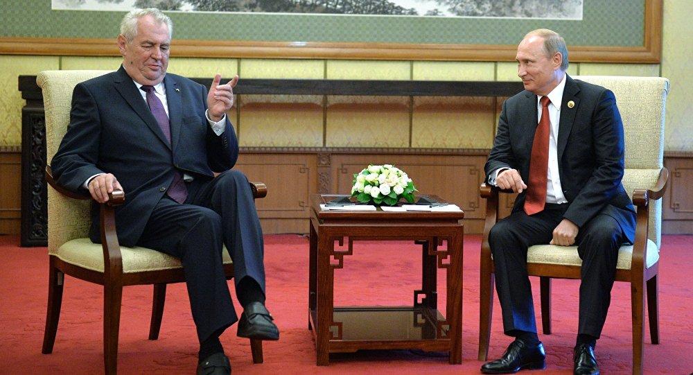 Miloš Zeman a Vladimir Putin