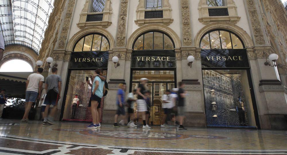 Obchod Versace v Miláně