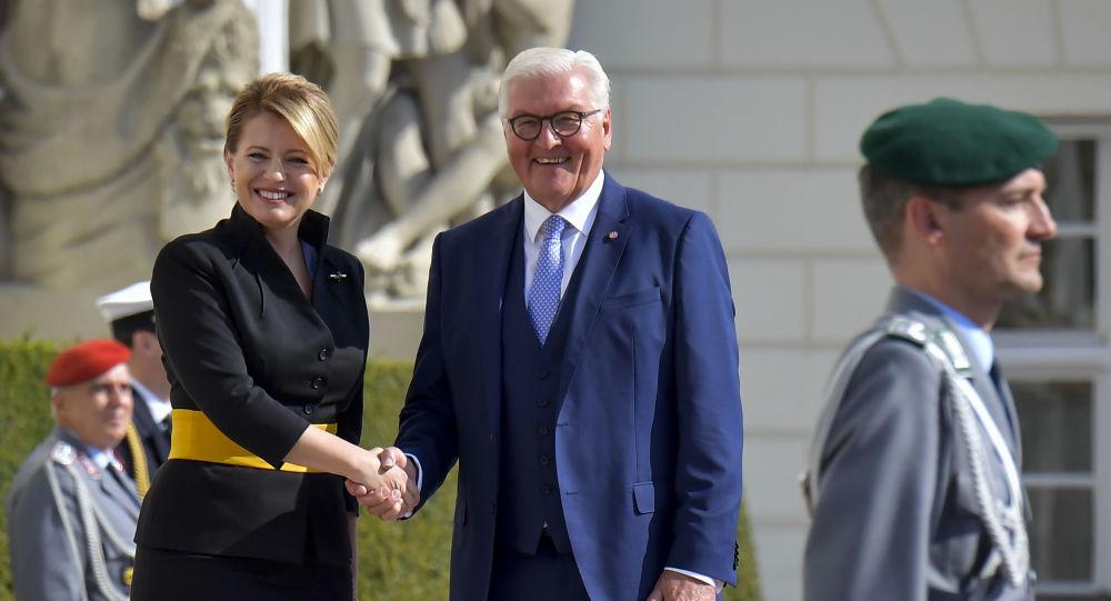 Slovenská prezidentka Zuzana Čaputová a prezident Německa Frank Walter Steinmeier (Berlín, dne 21. srpna 2019)