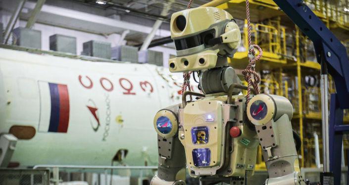 Příprava robota Fjodora v Bajkonuru