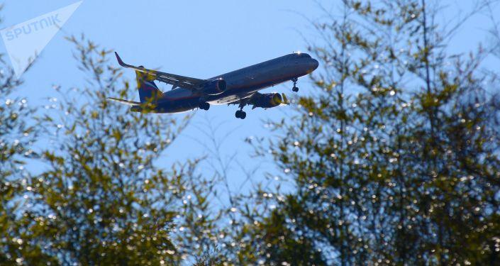 Letoun Aeroflotu nad Soči