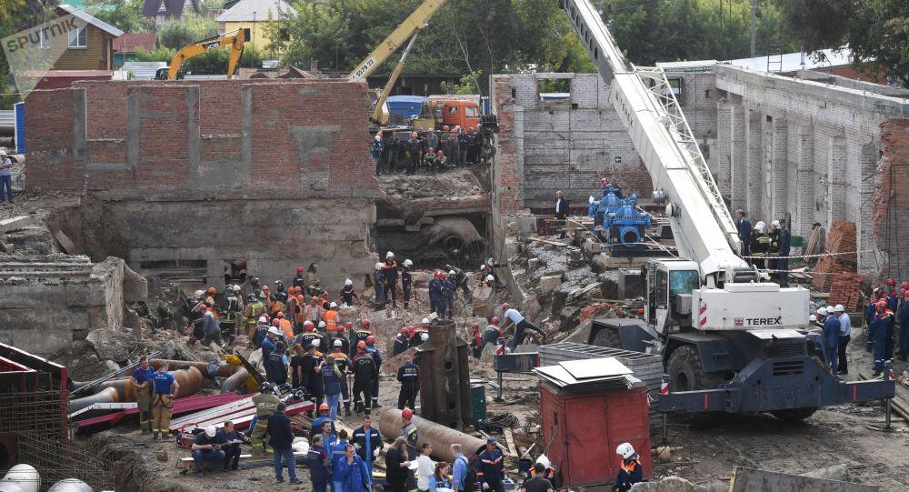 Záchranáři v Novosibirsku