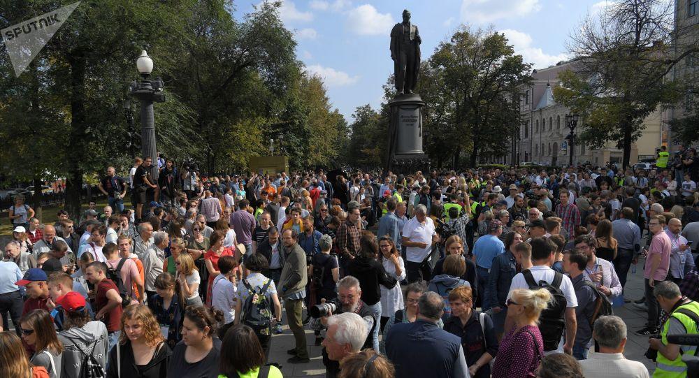 Neschválené protesty v centru Moskvy